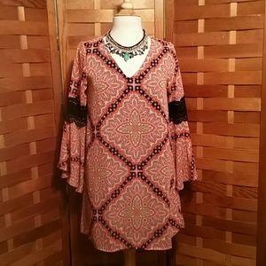 Paper Crane Dresses & Skirts - ANTHROPOLOGIE PAPER CRANE BOHO TUNIC DRESS SZ XS