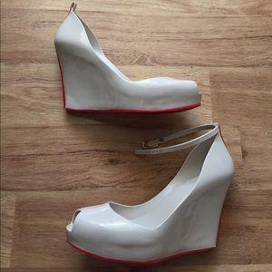 Melissa Shoes - Melissa Patchuli II Waterproof Peep Toe Wedge 9
