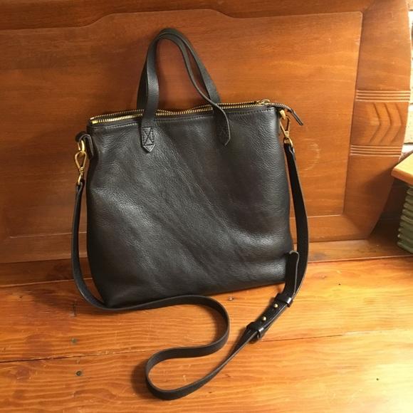 a5da54db70fb Madewell Handbags - Madewell mini transport crossbody in true black