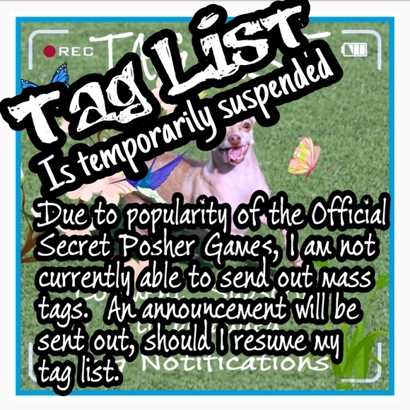 Tag List Accessories - Tag List Currently Suspended