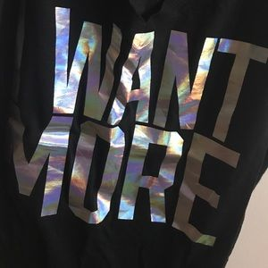 """PINK Victoria's Secret Tops - M """"I WANT MORE"""" shirt from PINK"""