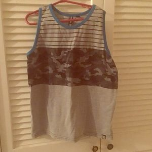 Ocean Current Other - Boys gray large camo tank