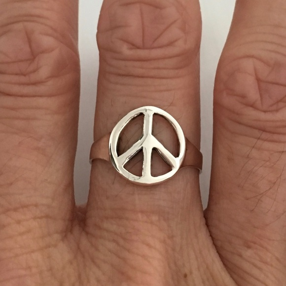 Jewelry Sterling Silver Peace Sign Ring Poshmark