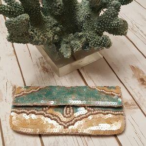 K.C. Malhan Handbags - Beautiful Beaded & Sequin Clutch