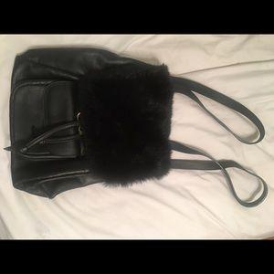 Handbags - Vintage Feaux Fur Backpack