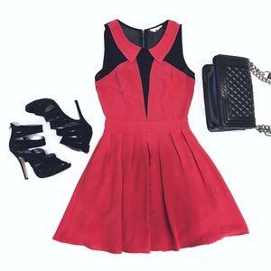 Sugarlips Dresses & Skirts - 🆕 L I S T I N G Red Black Peter Pan Collar Dress
