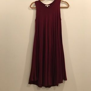 silence + noise Dresses & Skirts - Silence & Noise by UO deep red flower dress