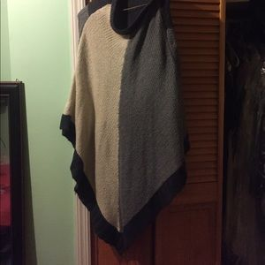 Le Temps Des Cerises Sweaters - A poncho from a local boutique
