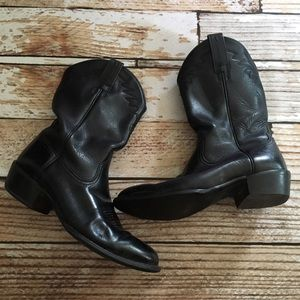 Ariat Other - Ariat mens black leather cowboy boots size 9