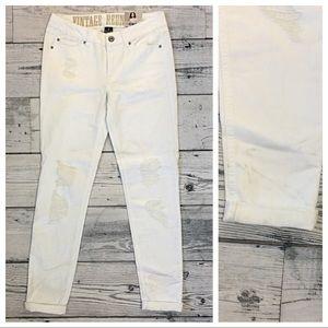 Rewash Denim - Rewash White Distressed Rolled Skinny Jeans ✨