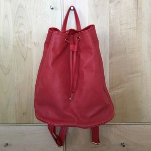 Red and gold Deux lux backpack
