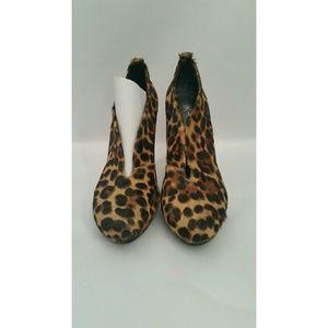 INC International Concepts Shoes - Pony hair leopard print booties