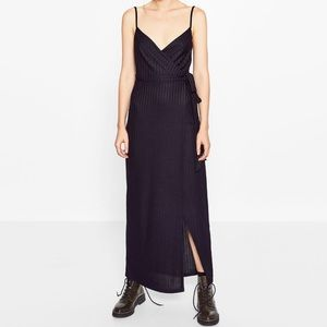 Zara crossover bowed dress