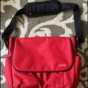 Skip Hop Other - SkipHop Red Messenger Style Diaper Bag Everything