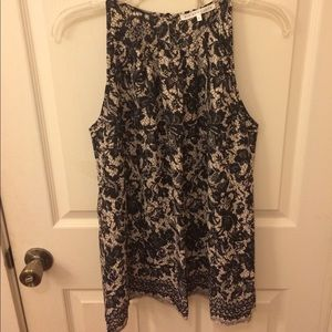 Violet & Claire Tops - Sleeveless Floral Top