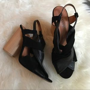 10 Crosby Derek Lam Shoes - Derek Lam 10 Crosby Leather Suede Black Heels 7