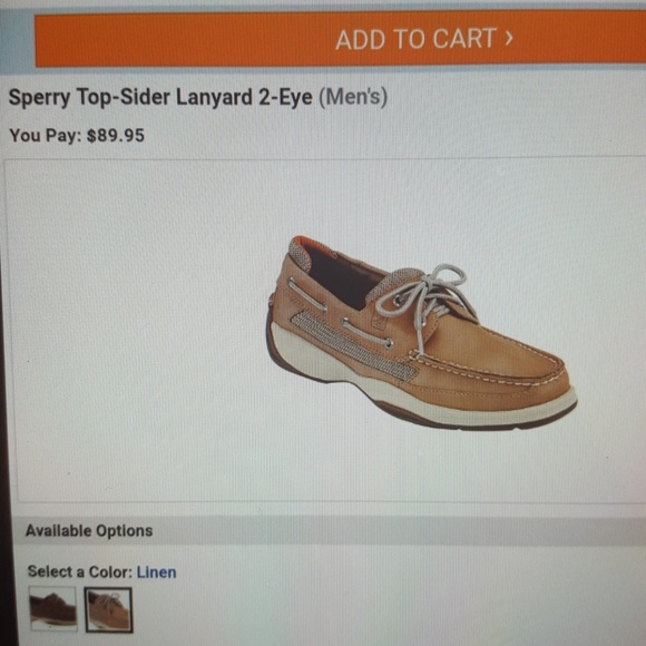 Sperry Lanyard Mens Shoes