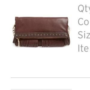 Deux Lux Handbags - Deux Lux bordeux cross body bag