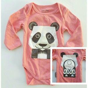 Coq en Pate Other - Organic Cotton Panda Bear & Cubs Body Suit