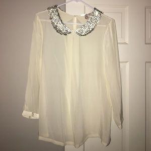 Gorgeous NWOT Julie brown blouse
