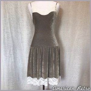 American Retro Dresses & Skirts - Lace Trim Dress
