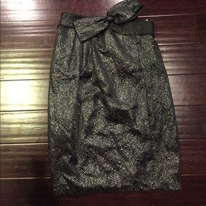 Cynthia steffe sz 8 brocade bow skirt nwt!