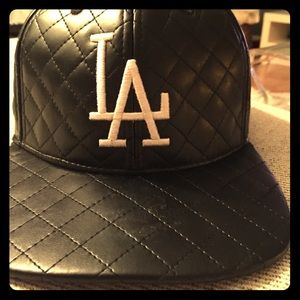 American Needle Accessories - LA quilted black hat