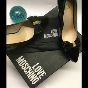 Love Moschino Shoes - LOVE MOSCHINO  PATENT LEATHER PUMPS WITH BOW