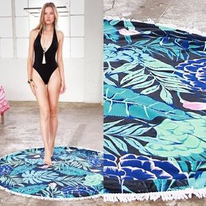 Bellanblue Other - 🆕Print Beach Cover Up - BLUE LEAVES