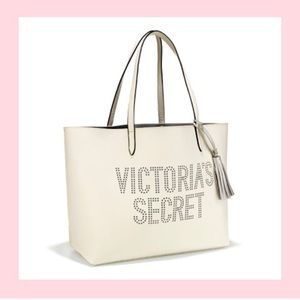 VS white perforated tote bag
