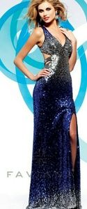 Faviana Dresses & Skirts - NEW Faviana Blue & Silver Sequin Prom/Evening Gown