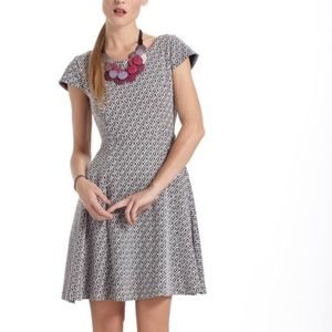 Anthropologie Maeve Jacquard Circle Skirt Dress.