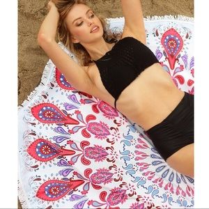 Print Beach Cover Up - RED PRINT