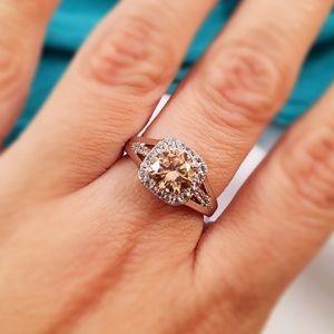 Abuelita's Attic Jewelry - RETRO Cushioned Morganite & White Topaz Ring