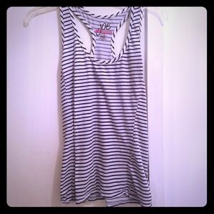 joe boxer Tops - White and navy striped tank size large