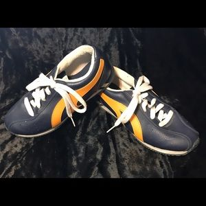 no boundries Shoes - No Boundries blue and yellow sneaker shoe