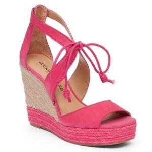 Lucky Brand Shoes - 🆕 Lucky Brand Listalia Raspberry Espadrille Wedge