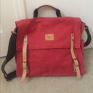 Will Leather Goods Handbags - Will Leather Goods Wax Coated Canvas Messenger Bag