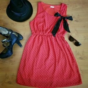 Everly Red with Red Polka Dot Dress.
