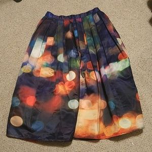 chicwish Dresses & Skirts - Bokeh Print Midi Skirt