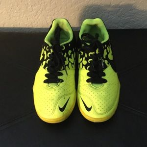 Nike Other - Black and neon yellow indoor soccer shoes