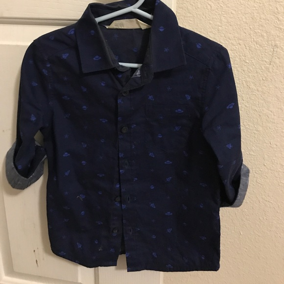 H&M Other - H&M boys Button Down Space Ship Print