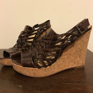 Enzo Angiolini Shoes - Chocolate Brown Espadrilles Wedges