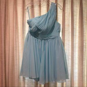 Dresses & Skirts - Tiffany Blue One Shoulder Dress