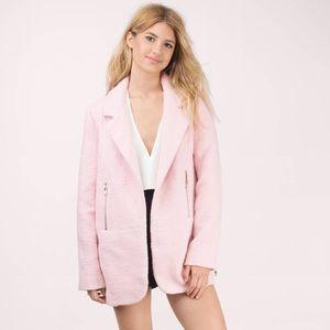 Tobi Jackets & Blazers - 🆕🔥PINK WOOL COAT with zip sleeve 🔥