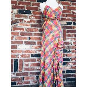 Lauren Ralph Lauren Dresses & Skirts - Lauren Ralph Lauren Plaid Ruffle Maxi Dress 6