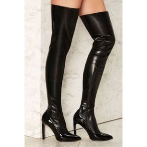 Jeffrey Campbell Shoes - Jeffrey Campbell leather over the knee boots US6
