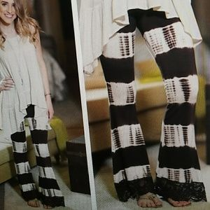 Crochet Lace Flared look Pants