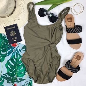 Frankie's Bikinis Other - Brand new olive one piece swimming suit