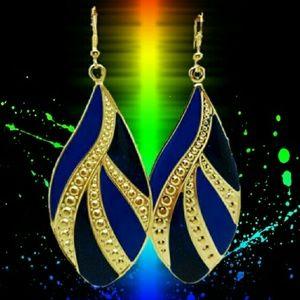 Jewelry - Boho Style Highly Enameled Earrings